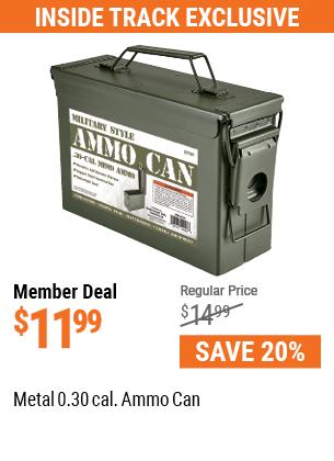 Metal 0.30 Caliber Ammo Can