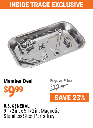9-1/2 in.  x 5-1/2 in.  Magnetic Stainless Steel Parts Tray