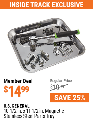 10-1/2 in. x 11-1/2 in. Magnetic Stainless Steel Parts Tray