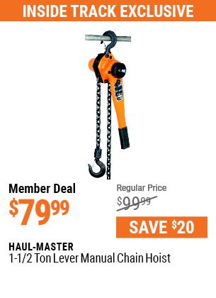 1-1/2 ton Lever Manual Chain Hoist