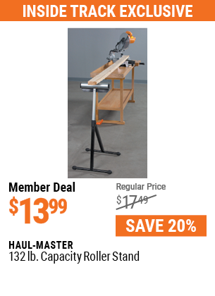 132 lb. Capacity Roller Stand