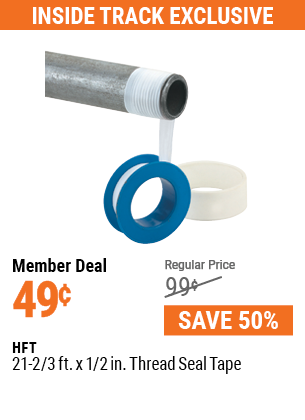 21-2/3 ft. x 1/2 in. Thread Seal Tape