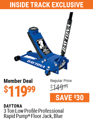 3 ton Low Profile Professional Rapid Pump® Floor Jack, Blue