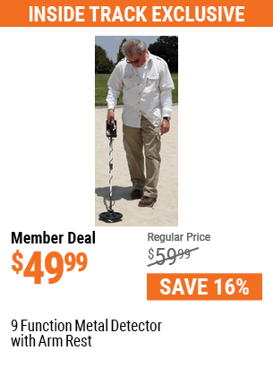 9 Function Metal Detector with Arm Rest.