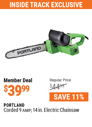 Corded 9 Amp 14 in. Electric Chainsaw