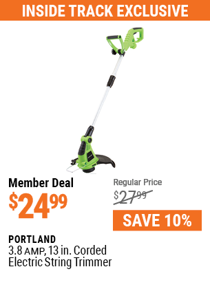 3.8 Amp 13 in. Corded Electric String Trimmer
