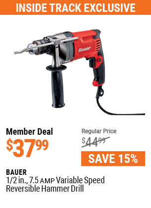 1/2 in.  7.5  Amp Variable Speed Reversible Hammer Drill
