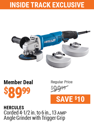 Corded 4-1/2 in. to 6 in.  13 Amp Angle Grinder with Trigger Grip