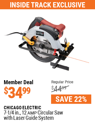 7-1/4 in. 12 Amp Circular Saw with Laser Guide System