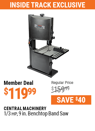 1/3 HP 9 in. Benchtop Band Saw