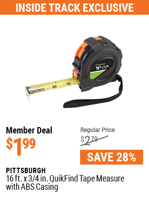 16 ft. x 3/4 in. QuikFind Tape Measure with ABS Casing