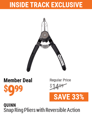Snap Ring Pliers with Reversible Action