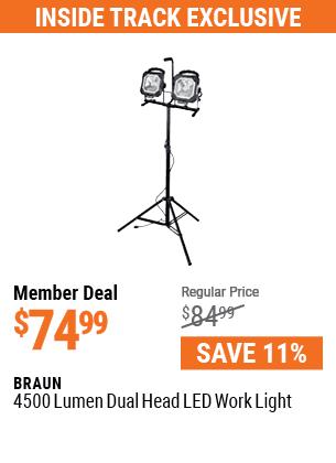 4500 Lumen Dual Head LED Work Light