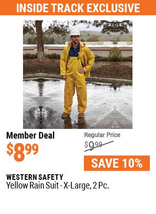 Yellow Rain Suit, X-Large, 2 Pc.