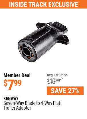 Seven-Way Blade to 4-Way Flat Trailer Adapter