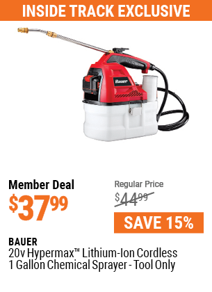 20v Hypermax™ Lithium-Ion Cordless 1 Gallon Chemical Sprayer - Tool Only