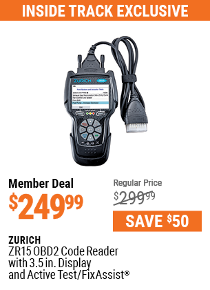 ZR15 OBD2 Code Reader with 3.5 In. Display and Active Test/FixAssist®