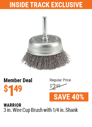 3 in. Wire Cup Brush with 1/4 in. Shank