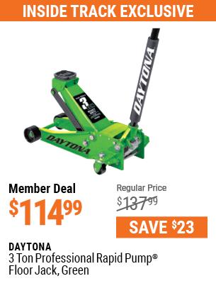 3 ton Professional Rapid Pump® Floor Jack, Green