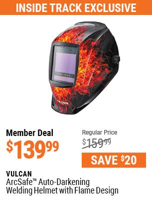 ArcSafe™ Auto Darkening Welding Helmet with Flame Design