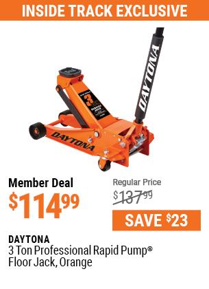 3 ton Professional Rapid Pump® Floor Jack, Orange