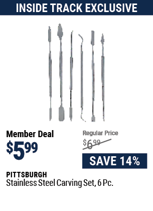 Stainless Steel Carving Set, 6 Pc.