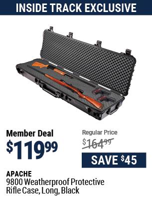 9800 Weatherproof Protective Rifle Case, Long, Black