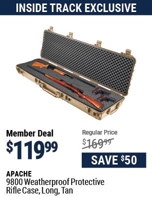 9800 Weatherproof Protective Rifle Case, Long, Tan