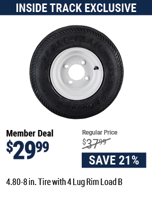4.80-8 in. Tire with 4 Lug Rim Load B