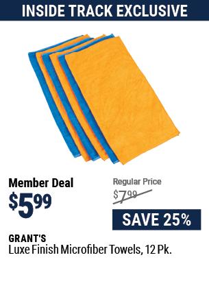 Luxe Finish Microfiber Towels, 12 Pk.