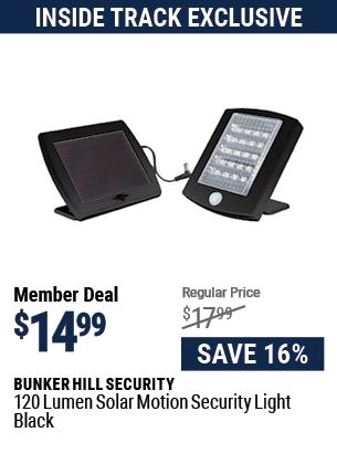 120 Lumen Solar Motion Security Light - Black