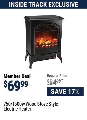 750/1500 Watt Wood Stove Style Electric Heater