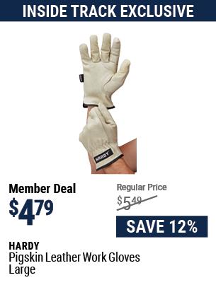 Pigskin Leather Work Gloves Large