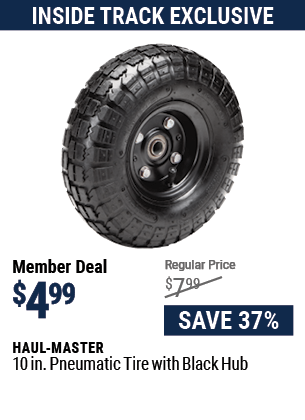 10 in. Pneumatic Tire with Black Hub