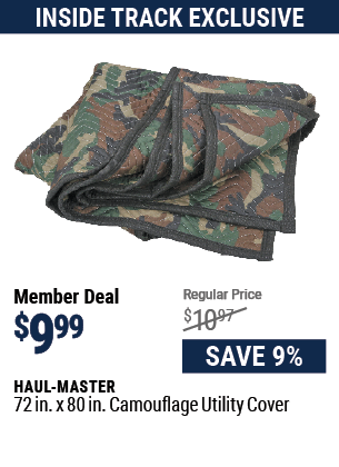 72 in. x 80 in. Camouflage Utility Cover