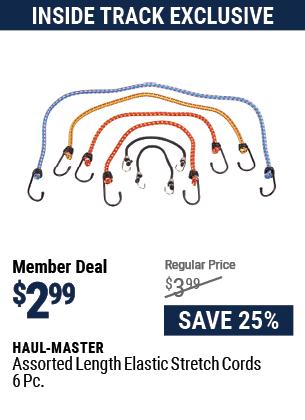 Assorted Length Elastic Stretch Cords, 6 Pc.