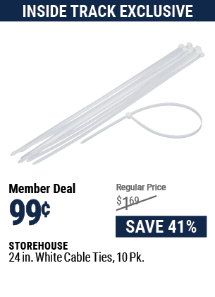 24 in. Cable Ties 10 Pk.