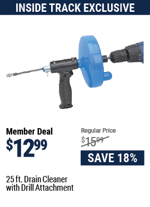 25 Ft. Drain Cleaner With Drill Attachment