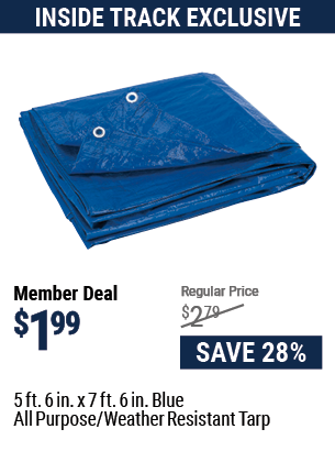 5 ft. 6 in. x 7 ft. 6 in. Blue All Purpose/Weather Resistant Tarp