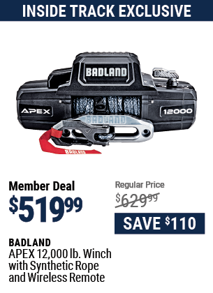 APEX 12,000 lb. Winch with Synthetic Rope and Wireless Remote