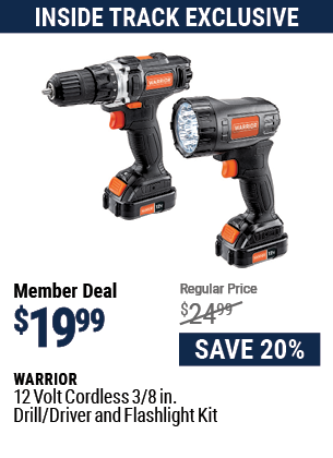 12v Lithium-Ion 3/8 in. Cordless Drill/Driver and Flashlight Kit