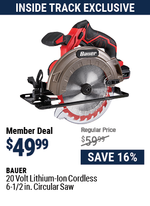 20v Lithium-Ion Cordless 6-1/2 in. Circular Saw - Tool Only