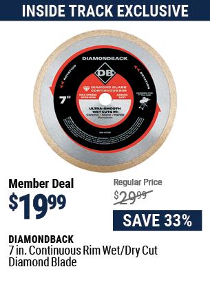 7 in. Continuous Rim Wet/Dry Cut Diamond Blade