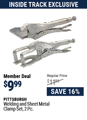 Welding And Sheet Metal Clamp Set, 2 Pc.