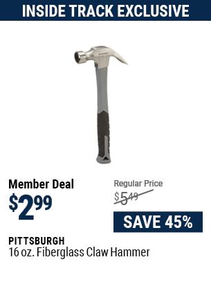 16 oz. Fiberglass Claw Hammer