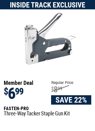 Three-Way Tacker Staple Gun Kit