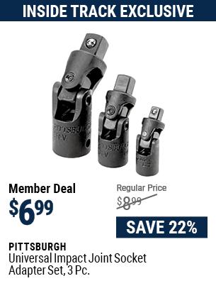 Universal Impact Joint Socket Adapter Set, 3 Pc.