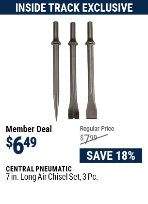 7 in. Long Air Chisel Set, 3 Pc.