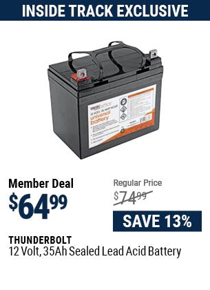 12 Volt, 35 Amp Hour Sealed Lead Acid Battery
