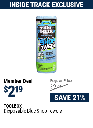 Disposable Blue Shop Towels
